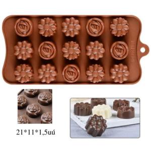 Շոկոլադ պատրաստելու սիլիկոնե ֆորմա  Ծաղիկներ  21x11սմ