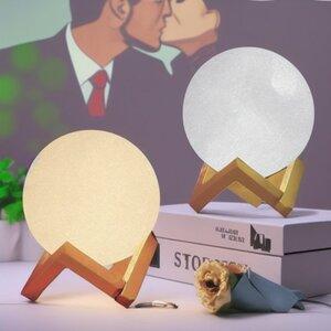 3D Լուսին Լամպ